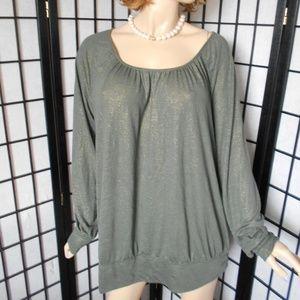 Nwt +$39 LANE BRYANT 18/20 Olive Green Sweater